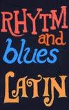 Rhytm和蓝色,拉丁语 库存照片