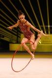 Rhytmic体操格兰披治在基辅,乌克兰 免版税库存图片