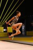 Rhytmic体操格兰披治在基辅,乌克兰 免版税库存照片