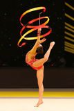 Rhytmic体操格兰披治在基辅,乌克兰 库存照片