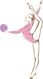 Rhytmic gimnastyczka ilustracja wektor