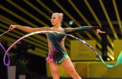 Rhytmic gimnastyki Uroczysty Prix w Kijów, Ukraina fotografia stock