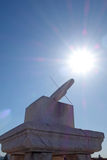 Ri Gui (zonnewijzer) in de Verboden Stad (Gu-Gong) Stock Foto