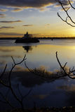 RI Sonnenuntergang-Leuchtturm Lizenzfreie Stockbilder