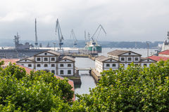 Ria de费罗尔半岛 免版税库存照片
