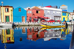 Ria de Aveiro adorable colorée Photo stock