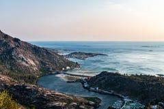 Ria De Corcubion i Finisterre przylądek od góry Pindo Obraz Royalty Free