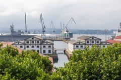 Ria de Ferrol Foto de Stock Royalty Free