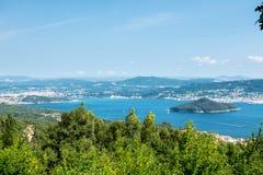Ria de Pontevedra w Galicia, Hiszpania Fotografia Royalty Free