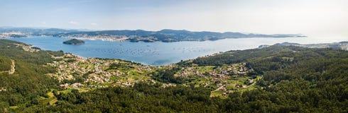 Ria de Pontevedra w Galicia, Hiszpania Obraz Stock