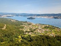 Ria de Pontevedra w Galicia, Hiszpania Zdjęcia Stock