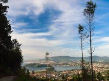 Ria de Vigo in A Ramallosa Baiona. In Rias Baixas in Galicia Royalty Free Stock Photos