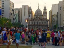 Ria del ¡de Igreja Nossa Senhora DA Candelà - Rio de Janeiro Fotografía de archivo libre de regalías