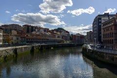 Ria del Nervion στο Μπιλμπάο Ισπανία Στοκ εικόνες με δικαίωμα ελεύθερης χρήσης