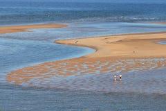 Ria Formosa. A couple enjoying the day on the sea (Ria Formosa, Algarve, south coast of Portugal Stock Photography