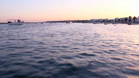 Ria Formosa boat travel.St.Luzia stock footage