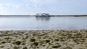 Ria Formosa conservation park view at Fuseta fishing town, Algarve. Portugal stock video