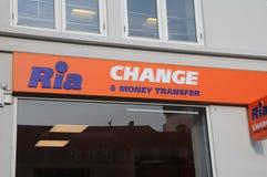 Ria przelew pieniędzy i zmiana Zdjęcie Stock