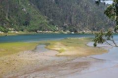 Ria Tina Minor. Boca de Nansa River. Municitabria.pality de Val de San Vicente, Cantábria, Imagens de Stock Royalty Free