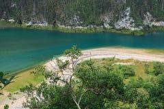 Ria Tina Minor. Boca de Nansa River. Municitabria.pality de Val de San Vicente, Cantábria, Fotografia de Stock Royalty Free