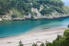 Ria Tina Minor. Nansa River mouth. Municitabria.pality of Val de San Vicente, Cantabria, Stock Photos