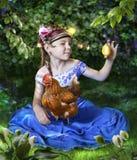 Riaba la gallina che fa le uova dorate Fotografie Stock Libere da Diritti