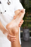 Riabilitazione della caviglia Fotografie Stock Libere da Diritti