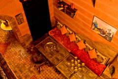 Riad à Marrakech, Maroc Images stock