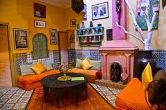 Riad à Marrakech, Maroc Photographie stock libre de droits