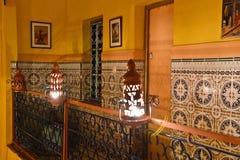 Riad à Marrakech, Maroc Photographie stock
