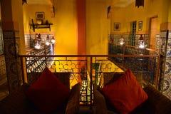 Riad в Marrakesh, Марокко Стоковые Изображения RF