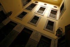 riad двора внутреннее морокканское типичное Стоковое Изображение RF