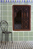 Riad corner. With a chair and window Stock Photography