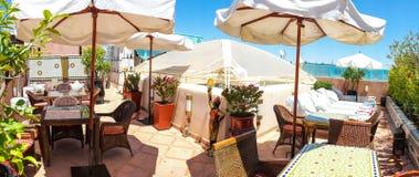 Riad dachu taras Zdjęcie Royalty Free