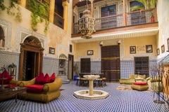 Riad en Marrakesh, Marruecos Imagen de archivo libre de regalías