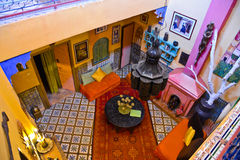 Riad en Marrakesh, Marruecos Fotos de archivo libres de regalías