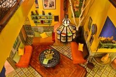 Riad en Marrakesh, Marruecos Imágenes de archivo libres de regalías
