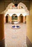 Riad i Marrakesh, Marocko arkivbild