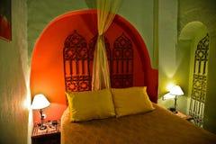 Riad i Marrakesh, Marocko Arkivbilder