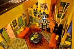 Riad i Marrakesh, Marocko Royaltyfri Bild