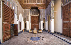 Riad II. Patio view of typical Riad house, Fez, Morocco Royalty Free Stock Image