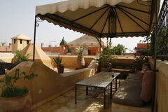 Riad in Marrakech Stock Images