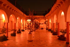 Riad in Marrakech, Marokko stock foto's
