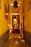 Riad in Marrakech, Marokko Stock Afbeelding