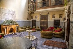 Riad in Marrakesh, Morocco Stock Images