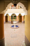 Riad in Marrakesh, Morocco. View of the Riad in Marrakesh, Morocco Stock Photography