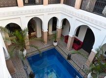 Riad marroquí tradicional de la casa Fotografía de archivo