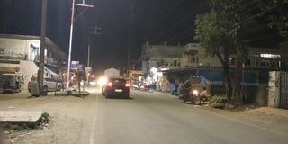 Riad in nacht stock fotografie