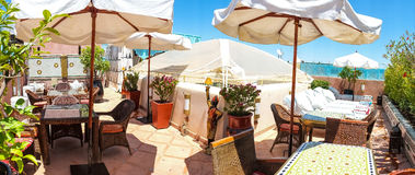 Riad Roof Terrace Foto de Stock Royalty Free