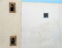 Riad windows in Essaouira. Royalty Free Stock Images